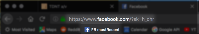 Most Recent News Feed URL and Bookmark